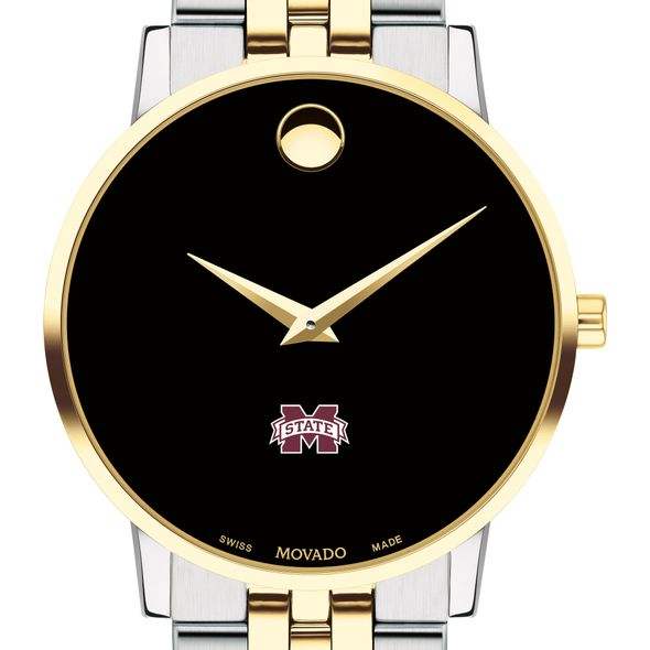 MS State Men's Movado Two-Tone Museum Classic Bracelet