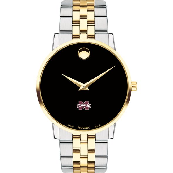MS State Men's Movado Two-Tone Museum Classic Bracelet - Image 2
