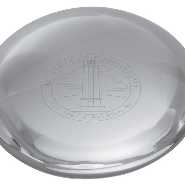 NC State Glass Dome Paperweight by Simon Pearce - Image 2