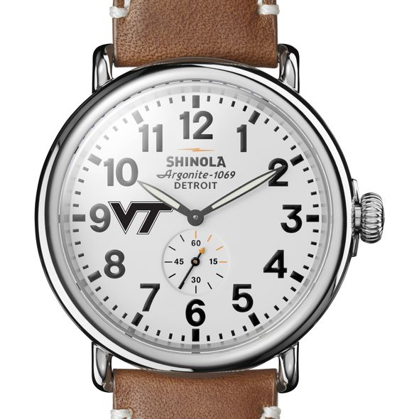 Virginia Tech Shinola Watch, The Runwell 47mm White Dial