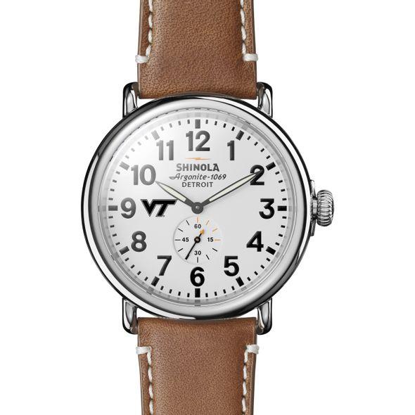 Virginia Tech Shinola Watch, The Runwell 47mm White Dial - Image 2