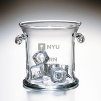 NYU Stern Glass Ice Bucket by Simon Pearce
