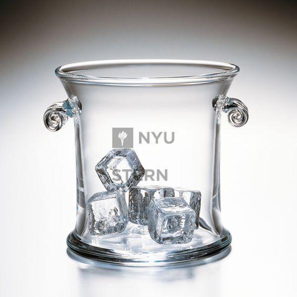 NYU Stern Glass Ice Bucket by Simon Pearce