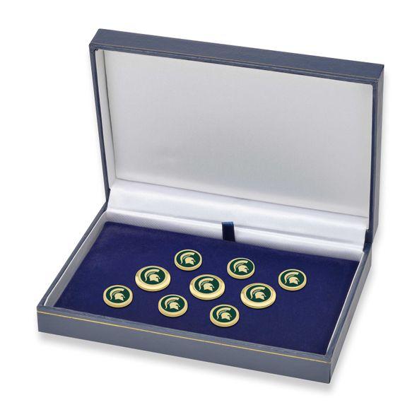 Michigan State University Enamel Blazer Buttons - Image 2