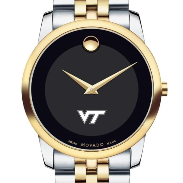 Virginia Tech Men's Movado Two-Tone Museum Classic Bracelet