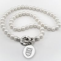 Tuck Pearl Necklace with Sterling Silver Charm