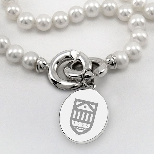 Tuck Pearl Necklace with Sterling Silver Charm - Image 2