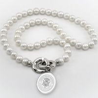 Carnegie Mellon University Pearl Necklace with Sterling Silver Charm