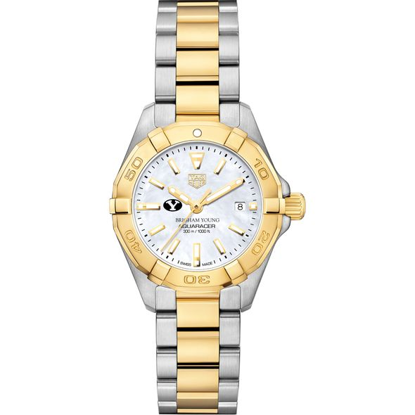 Brigham Young University TAG Heuer Two-Tone Aquaracer for Women - Image 2