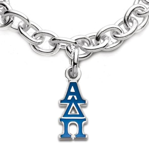 Alpha Delta Pi Sterling Silver Charm Bracelet with Greek Letter Charm - Image 2