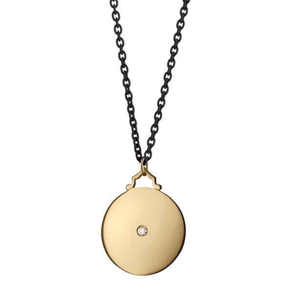 Virginia Tech Monica Rich Kosann Round Charm in Gold with Stone - Image 3