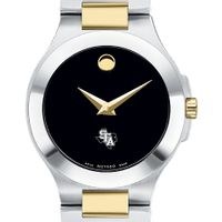 SFASU Women's Movado Collection Two-Tone Watch with Black Dial