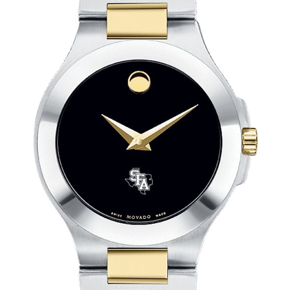 SFASU Women's Movado Collection Two-Tone Watch with Black Dial - Image 1