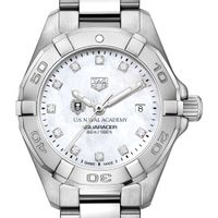 USNA Women's TAG Heuer Steel Aquaracer with MOP Diamond Dial