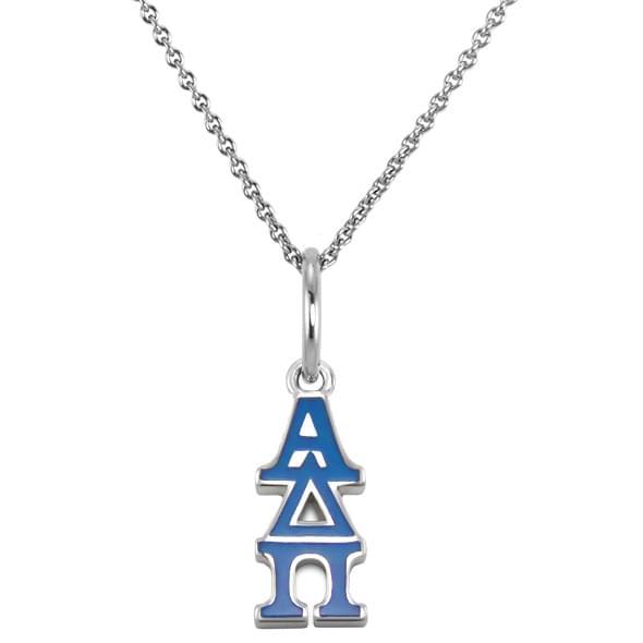 Alpha Delta Pi Sterling Silver Necklace with Greek Letter Charm - Image 2