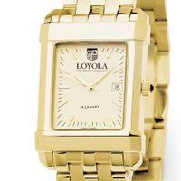Loyola Men's Gold Quad with Bracelet