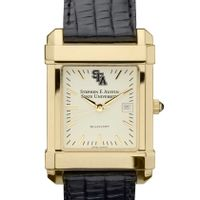 SFASU Men's Gold Quad with Leather Strap