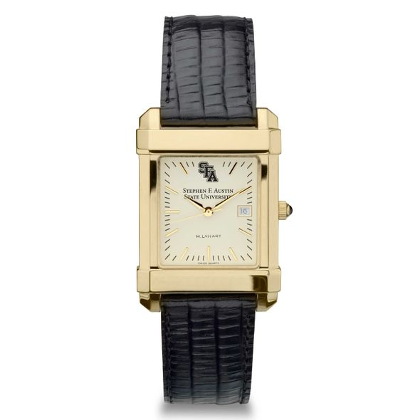 SFASU Men's Gold Quad with Leather Strap - Image 2