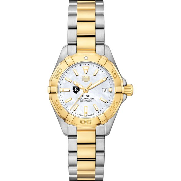 East Tennessee State University TAG Heuer Two-Tone Aquaracer for Women - Image 2