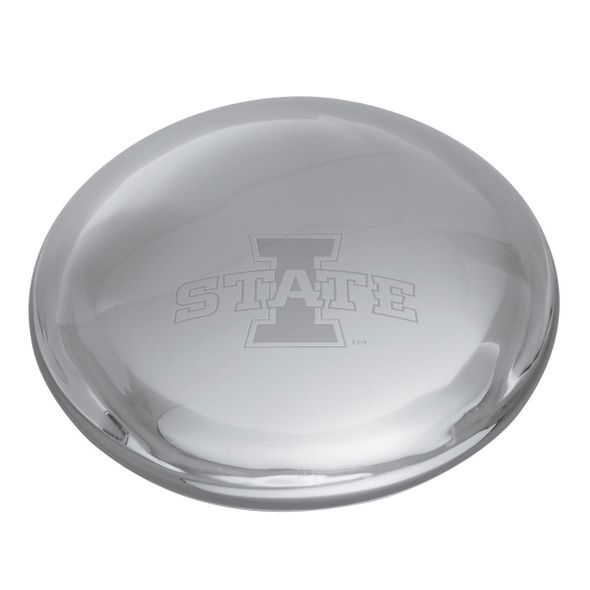 Iowa State University Glass Dome Paperweight by Simon Pearce - Image 2