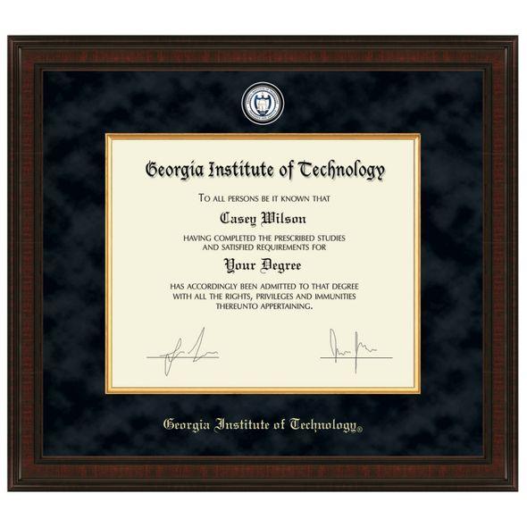 Georgia Tech Excelsior Diploma Frame
