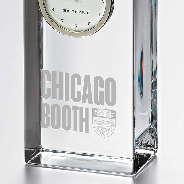 Chicago Booth Tall Glass Desk Clock by Simon Pearce - Image 2
