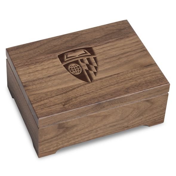 Johns Hopkins University Solid Walnut Desk Box