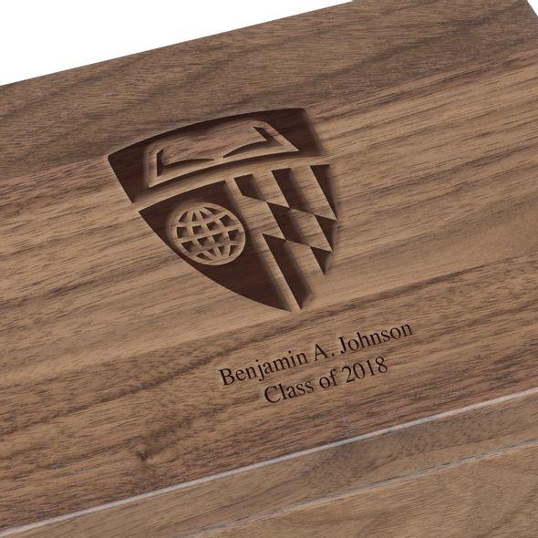 Johns Hopkins University Solid Walnut Desk Box - Image 3