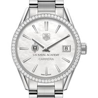 US Naval Academy Women's TAG Heuer Steel Carrera with MOP Dial & Diamond Bezel