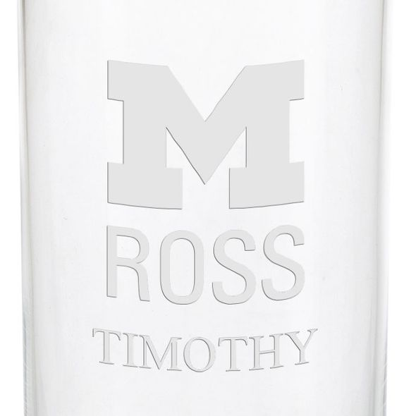 Michigan Ross Iced Beverage Glasses - Set of 4 - Image 3