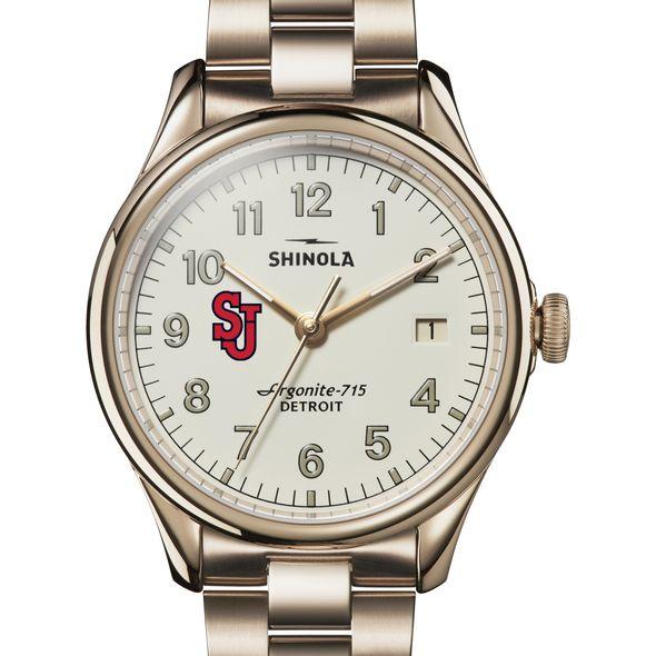 St. John's Shinola Watch, The Vinton 38mm Ivory Dial - Image 1
