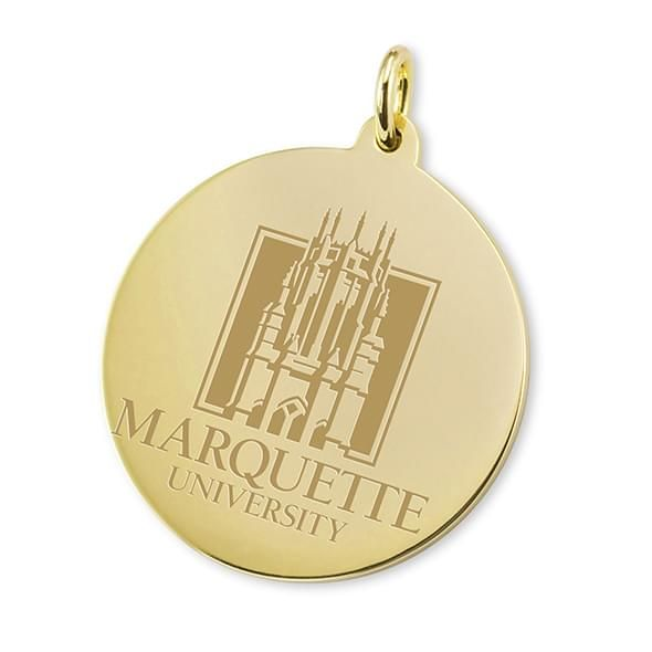 Marquette 18K Gold Charm - Image 1