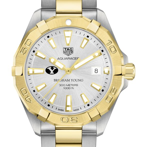 Brigham Young University Men's TAG Heuer Two-Tone Aquaracer - Image 1