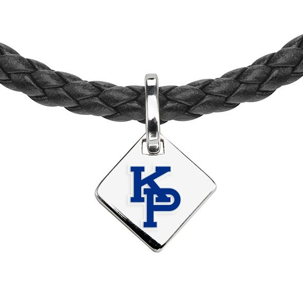 US Merchant Marine Academy Leather Necklace with Sterling Silver Tag - Image 2