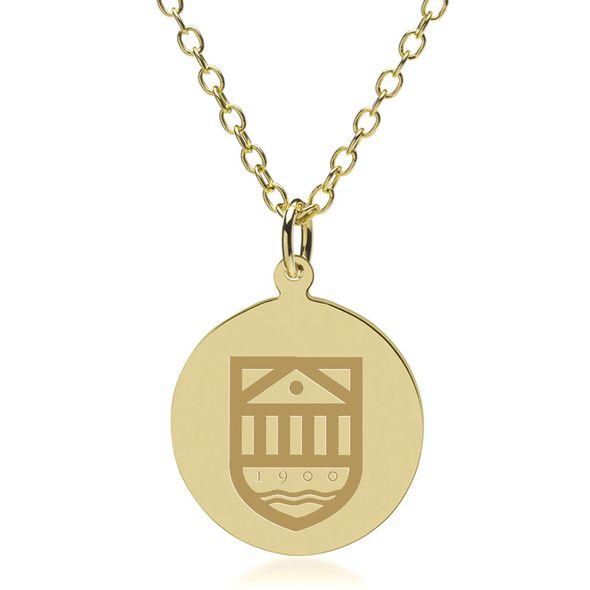 Tuck 18K Gold Pendant & Chain
