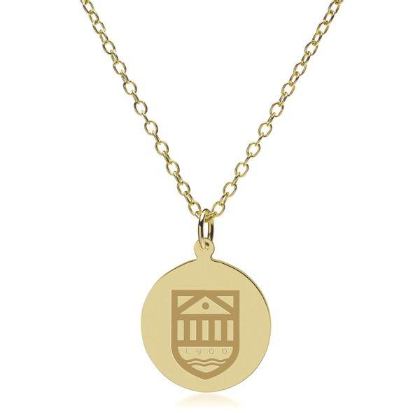 Tuck 18K Gold Pendant & Chain - Image 2