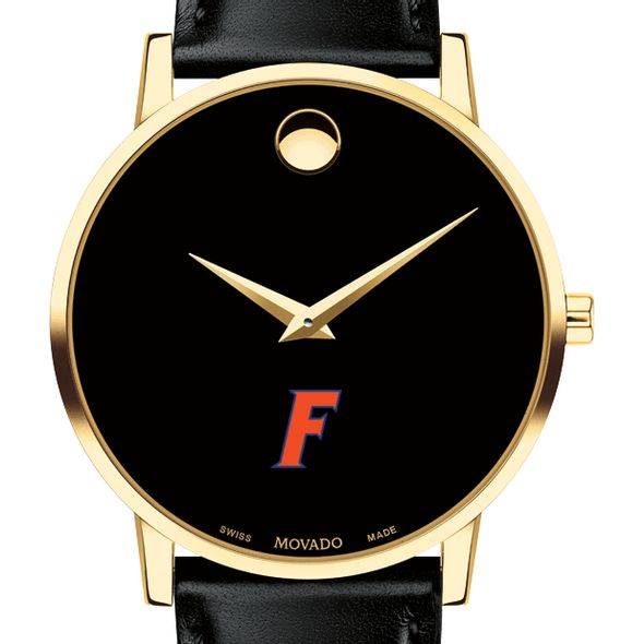 University of Florida Men's Movado Gold Museum Classic Leather - Image 1