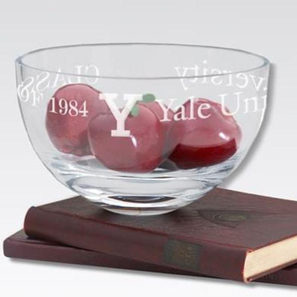 """Yale 10"""" Glass Celebration Bowl - Image 1"""