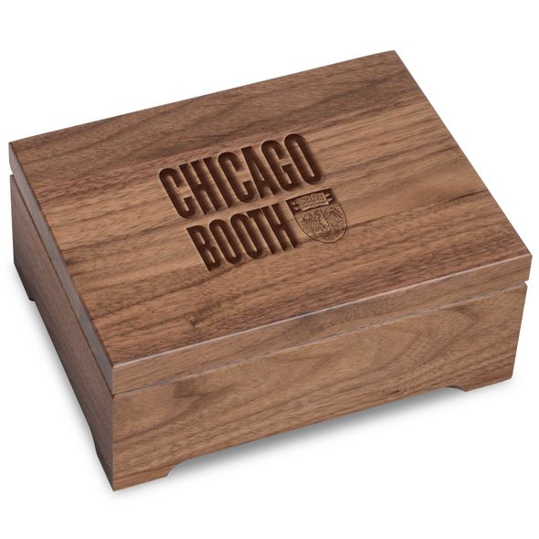 Chicago Booth Solid Walnut Desk Box