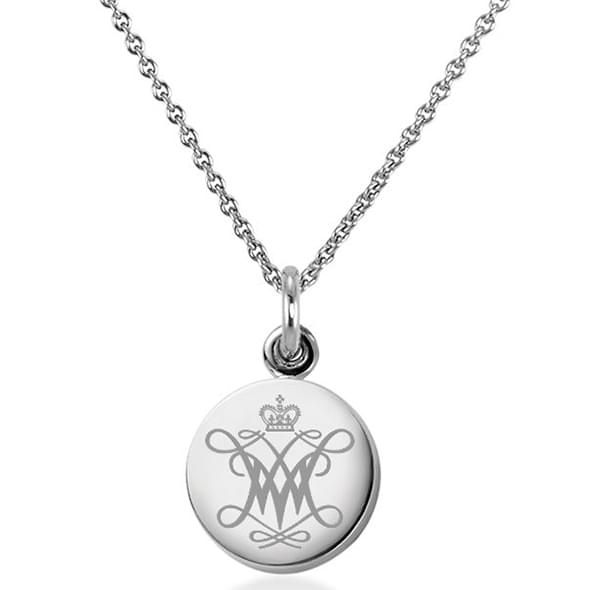 College of William & Mary Necklace with Charm in Sterling Silver