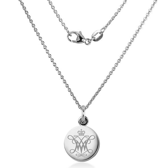 College of William & Mary Necklace with Charm in Sterling Silver - Image 2