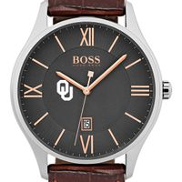 University of Oklahoma Men's BOSS Classic with Leather Strap from M.LaHart