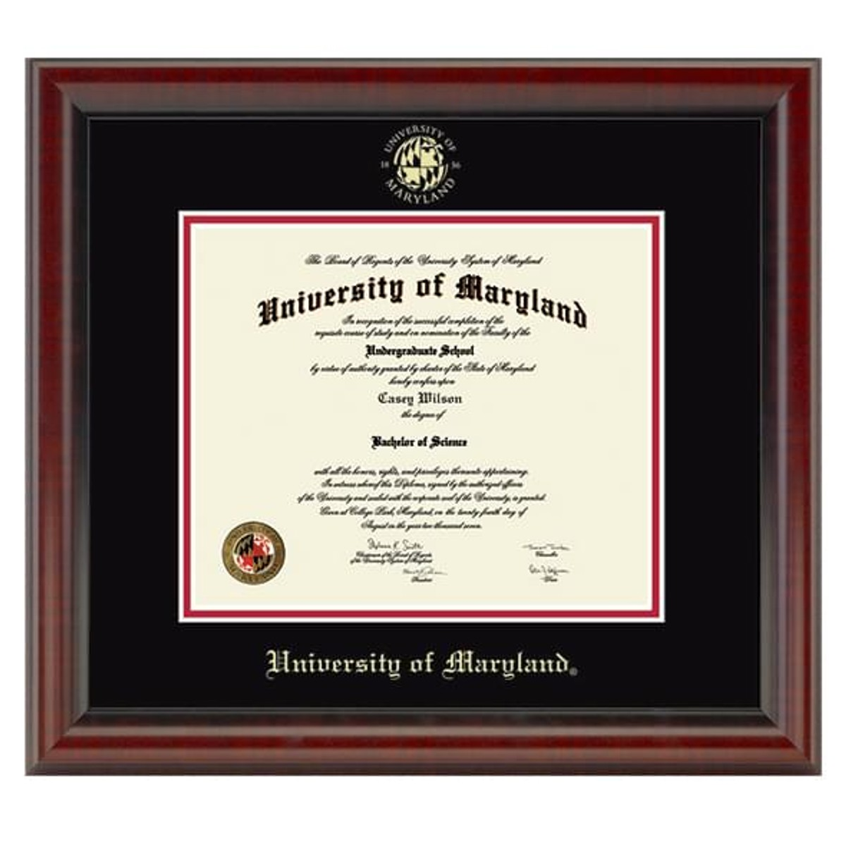 Official University Of Maryland Diploma Frame The