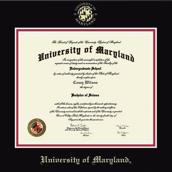 Official University of Maryland Diploma Frame, the Fidelitas ...