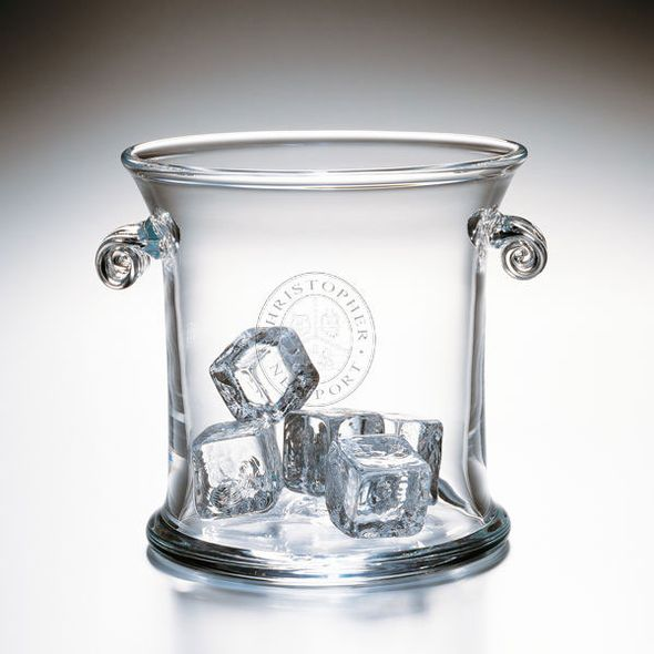 Christopher Newport University Glass Ice Bucket by Simon Pearce