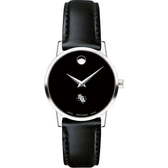 SFASU Women's Movado Museum with Leather Strap - Image 2