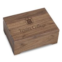 Trinity College Solid Walnut Desk Box
