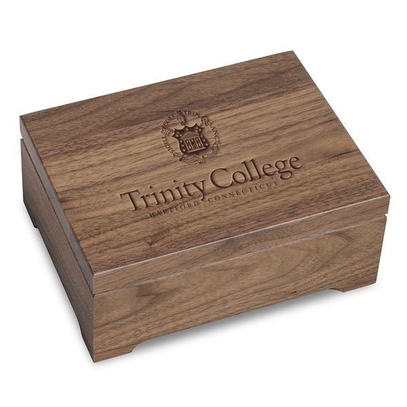 Trinity College Solid Walnut Desk Box - Image 1