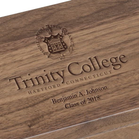 Trinity College Solid Walnut Desk Box - Image 3