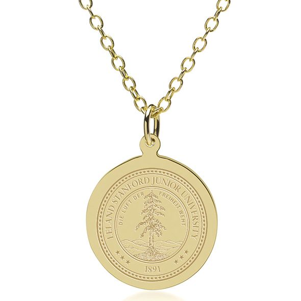 Stanford University 18K Gold Pendant & Chain